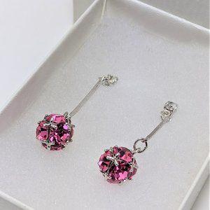 Pink Cubic Zirconia earrings in Sterling Silver